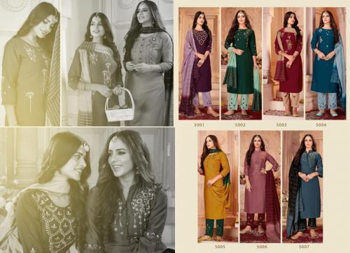 Seven Threads Noor 5001-5007 Price - 7735