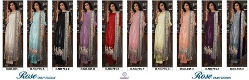 Shanaya Fashion Rose Craft Edition 705 Colors  Price - 12750