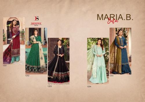 Deepsy Suits Maria B Satin 1251-1255 Price - 5495