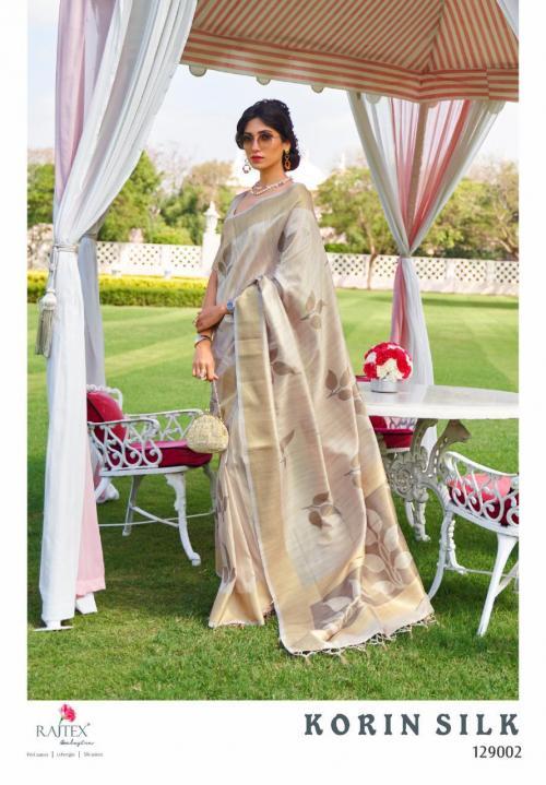 Rajtex Saree Korlin Silk 129002 Price - 1245