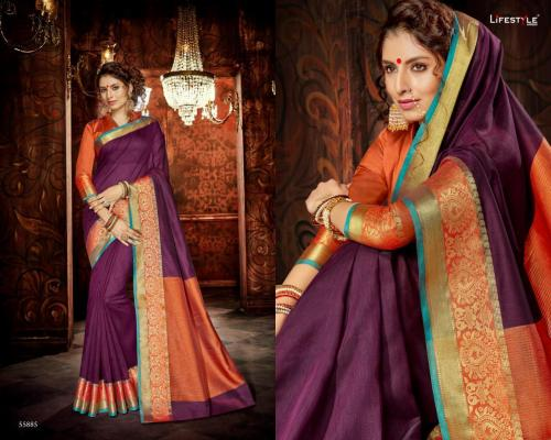 Lifestyle Saree Khadi Silk 55885 Price - 598