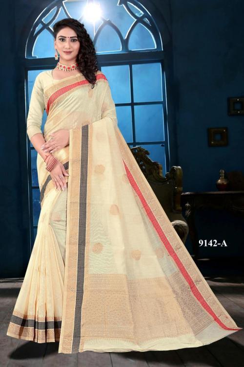 NP Saree 9142 Colors Soft Linen