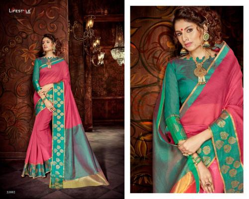 Lifestyle Saree Khadi Silk 55882 Price - 598