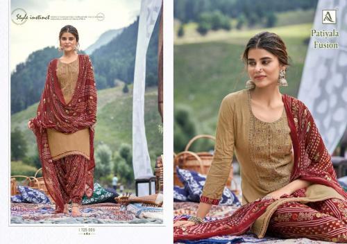 Alok Suits Patiyala Fusion 1725-005 Price - 700
