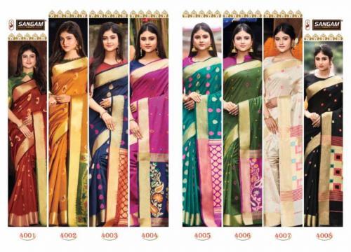 Sangam Prints Aaradhya Handloom 4001-4008 Price - 9000