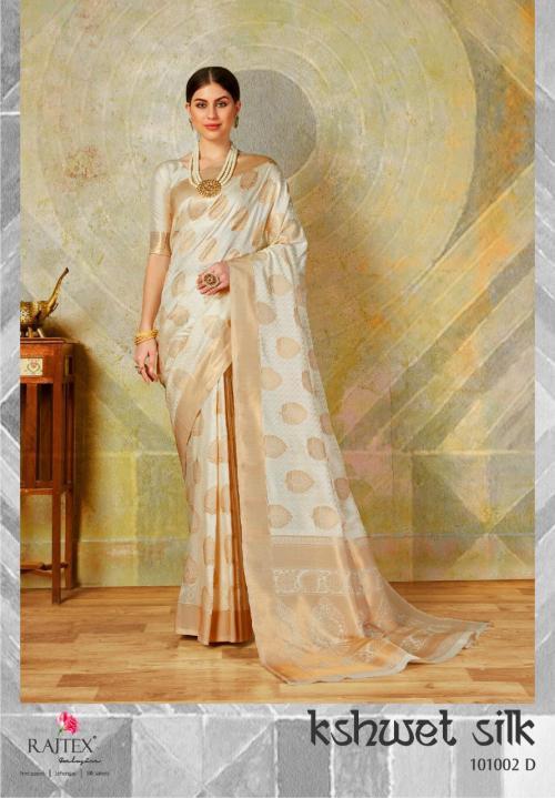 Rajtex Kshwet Silk 101002 D Price - 1460