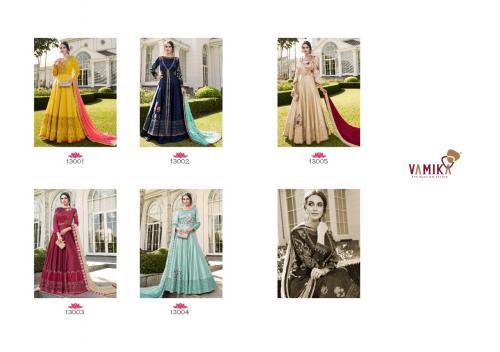 Arihant Vamika Elegant 13001-13005 Price - With Bottam-9125,, Without Bottom-8725