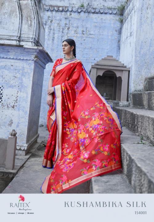Rajtex Saree Kushambika Silk 154001-154006 Series