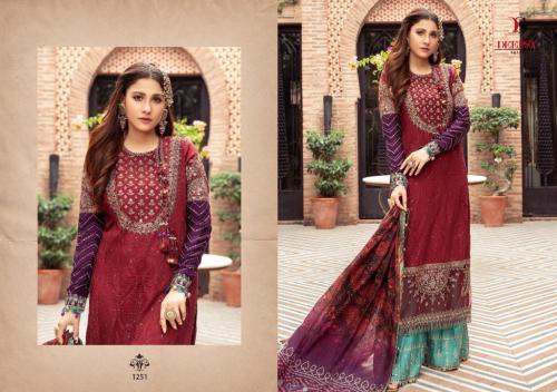 Deepsy Suits Maria B Satin 1251-1255 Series