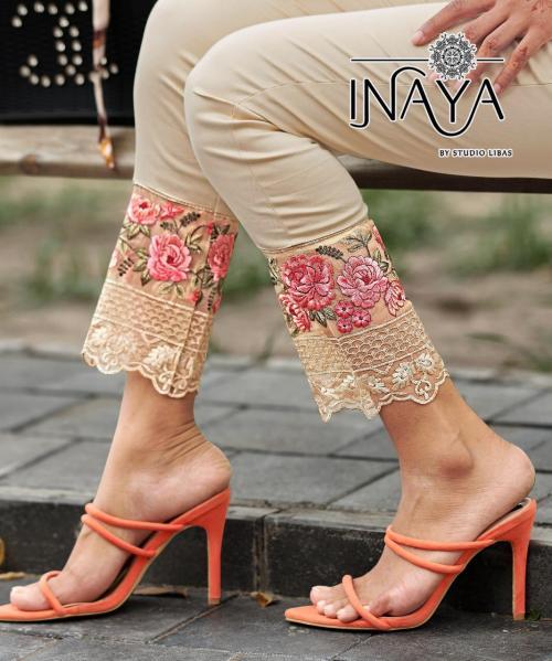 Studio Libas Inaya Cigeratte Pants Cream Price - 950