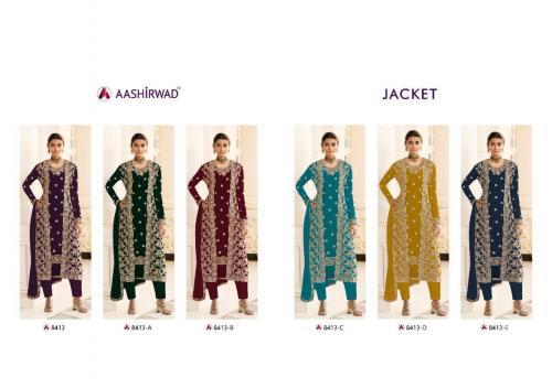 Aashirwad Creation Jacket 8413 Colors  Price - 14970