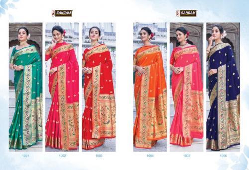 Sangam Prints Adishree Silk 1001-1006 Price - 9450