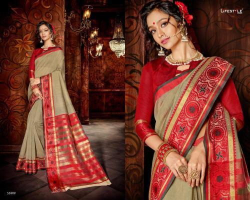 Lifestyle Saree Khadi Silk 55889 Price - 598