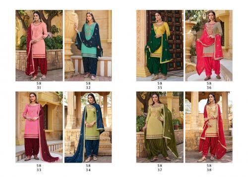 Kessi Fabrics Sitara By Patiyala House 5831-5838 Price - 7168
