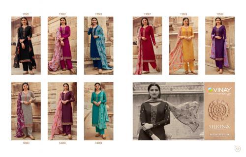 Vinay Fashion Silkina Royal Crepe 13561-13569 Price - 9810