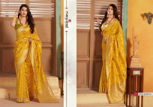 Manjuba Saree 1104-yellow  Price - 1795