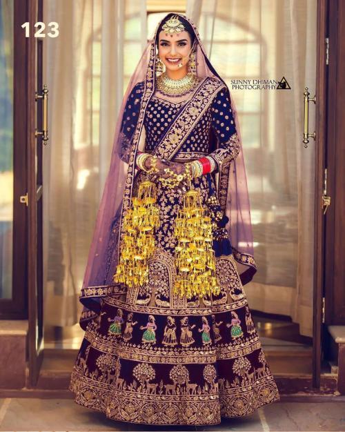 DJ Bridal Wedding Wear Lehenga DJ-123-B Price - 4650