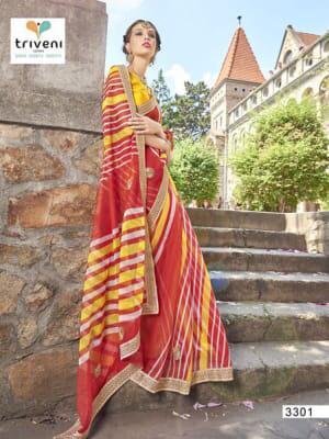 Triveni Saree Rang Varsha 3301-3312 Series