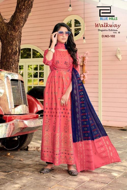 Blue Hills Walkway Dupatta Edition 102 Price - 715
