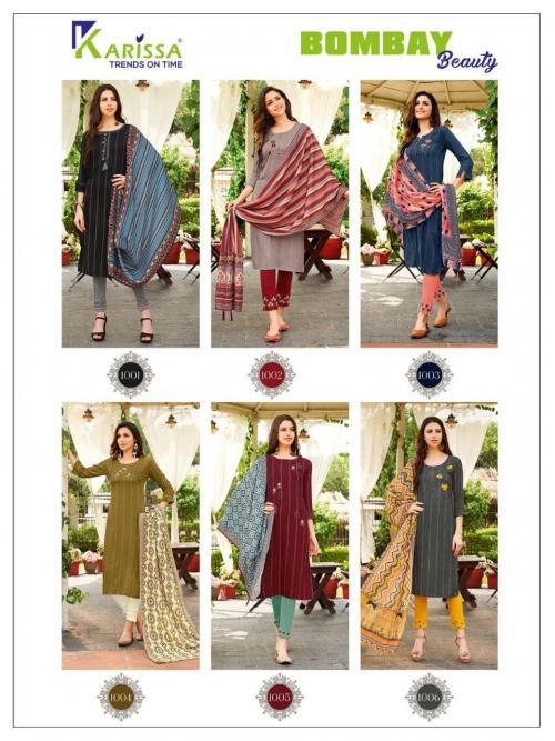 Karissa Trendz Bombay Beauty 1001-1006 Price - 6630