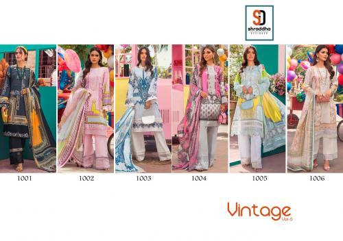 Shraddha Designer Vintage 1001-1006 Price - Chiffon Dup-3750 , Cotton Dup-4050