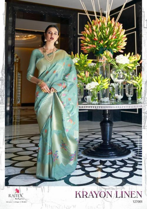 Rajtex Saree Krayon Linen 127001-127006 Series