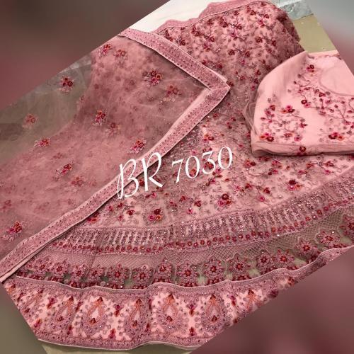 BR Lehenga Choli Lucknowi Work BR-7030-D Price - 4459