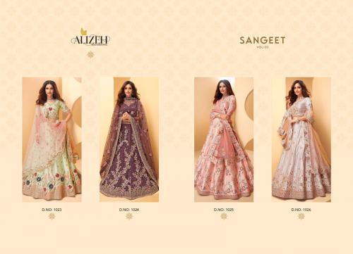 Alizeh Lehengas Sangeet 1023-1026 Price - 21980