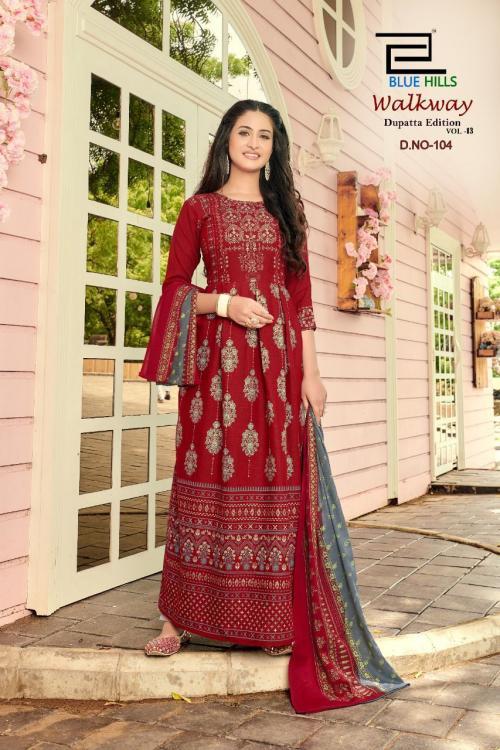 Blue Hills Walkway Dupatta Edition 104 Price - 715