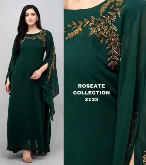 Bollywood Designer Roseate Gown 2123-B Price - 1300