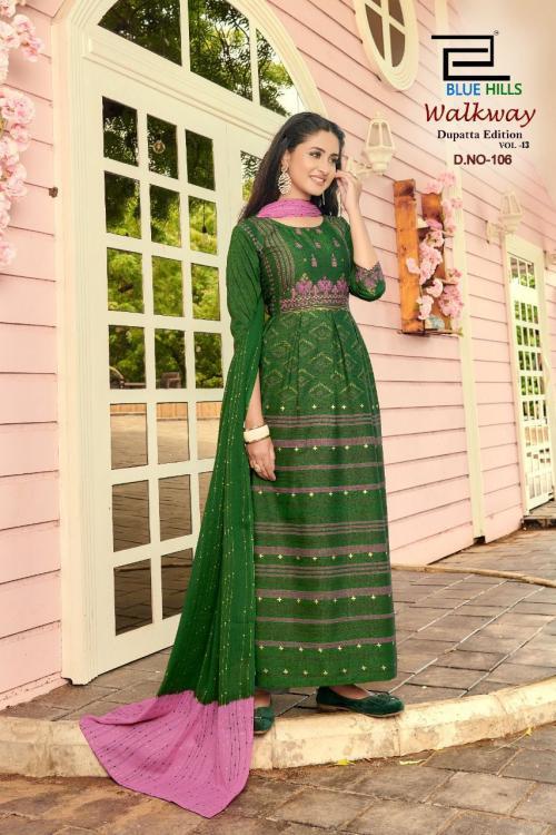 Blue Hills Walkway Dupatta Edition 106 Price - 715