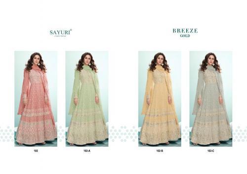 Aashirwad Creation Sayuri Breeze Gold 102  Colors Price - 9980