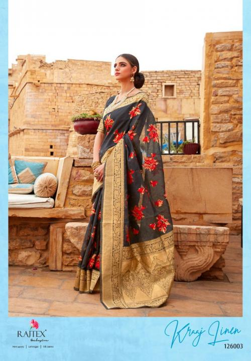 Rajtex Saree Kraj Linen 126003 Price - 1460