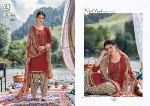 Alok Suits Patiyala Fusion 1725-010 Price - 700