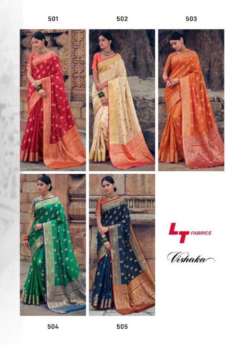 LT Fabrics Vishaka Silk 501-505 Price - 5625