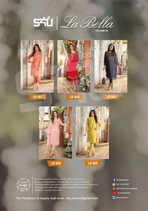 S4U Shivali La Bella 601-605 Price - 11425