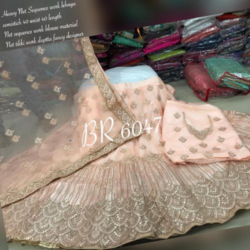 BR Designer Net Sequence Lehenga BR-6047-C Price - 2949