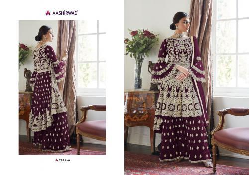 Aashirwad Creation Premium Sharara Gold 7024 New Colors