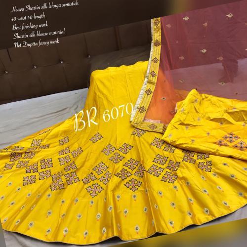 BR Designer Appliqe style Lehenga BR-6070-A Price - 2610