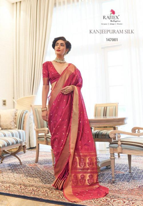 Rajtex Saree Kanjeepuram Silk 147001-147006 Series
