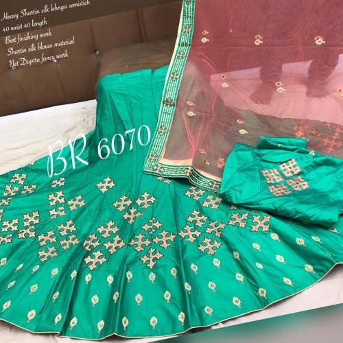 BR Designer Appliqe style Lehenga BR-6070-E Price - 2610