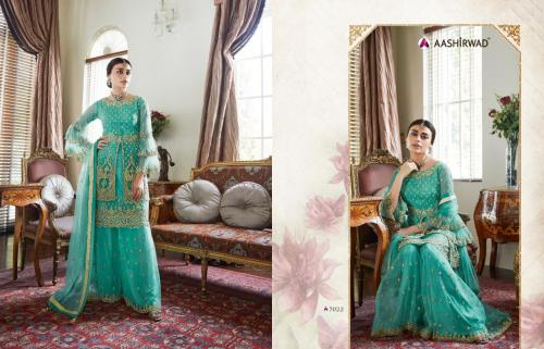 Aashirwad Creation Premium Sharara 7022 Price - 3100
