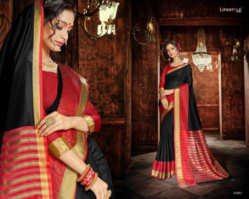 Lifestyle Saree Khadi Silk Vol-18 55881-55892 Series