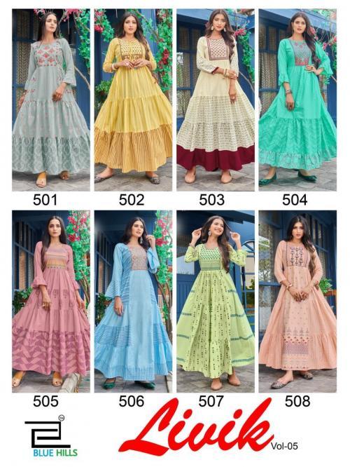 Blue Hills Livik 501-508 Price - 5992
