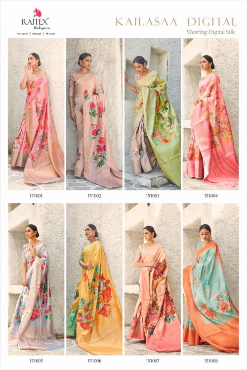 Rajtex Saree Kailasaa Digital 151001-151008 Price - 11680