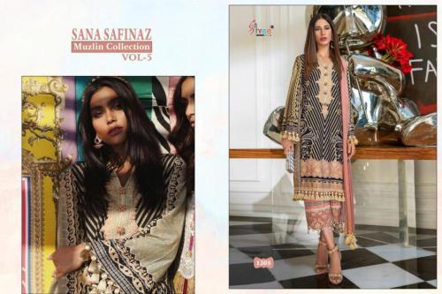 Shree Fab Sana Safinaz Muzlin Collection Vol-5 1205-1209 Series