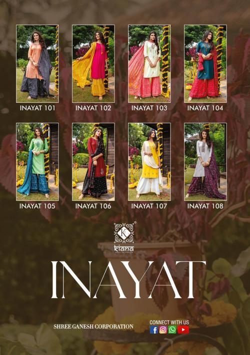 Kiana Fashion Inayat 101-108 Price - 9120
