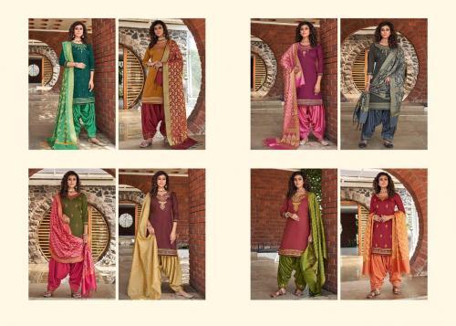 Kessi Fabrics Silk By Patiyala 4001-4008 Price - 7592
