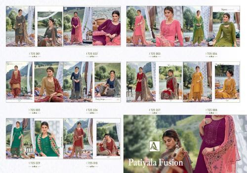 Alok Suits Patiyala Fusion 1725-001 to 1725-010 Price - 7000