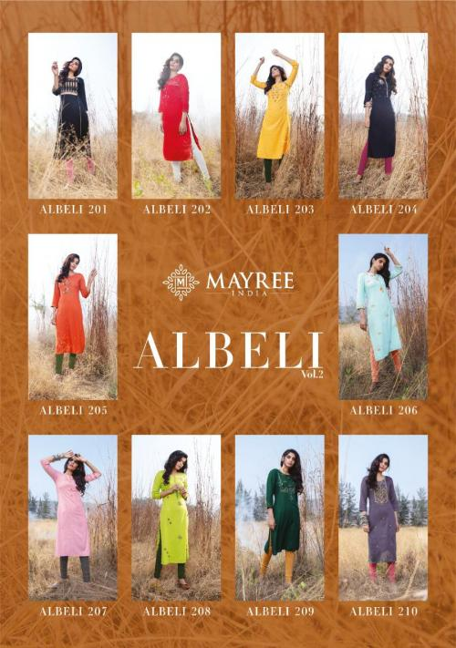 Mayree India Albeli 201-210 Price - 5250